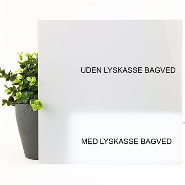 LED Opal Akryl 26 % 3 mm - Støbt (BY44)