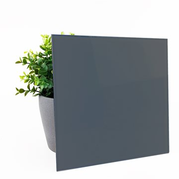 6 mm Lacobel hærdet m pol kant - Anthracite Grey 0913